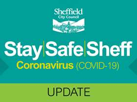 Stay Safe Sheff text image