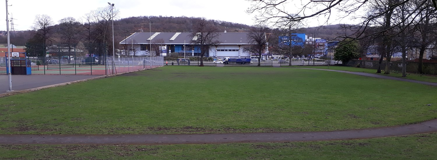 Hillsborough Park, site of the new bike park