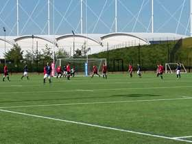 Football game at Olympic Legacy Park Sheffield