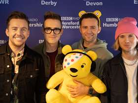 McFly with Pudsey bear
