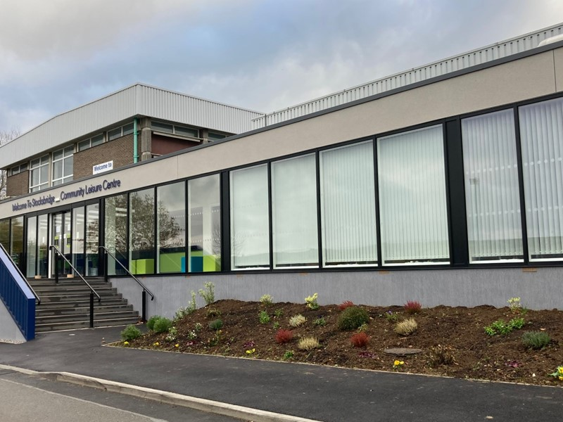 Stocksbridge Community Leisure Centre from the outside