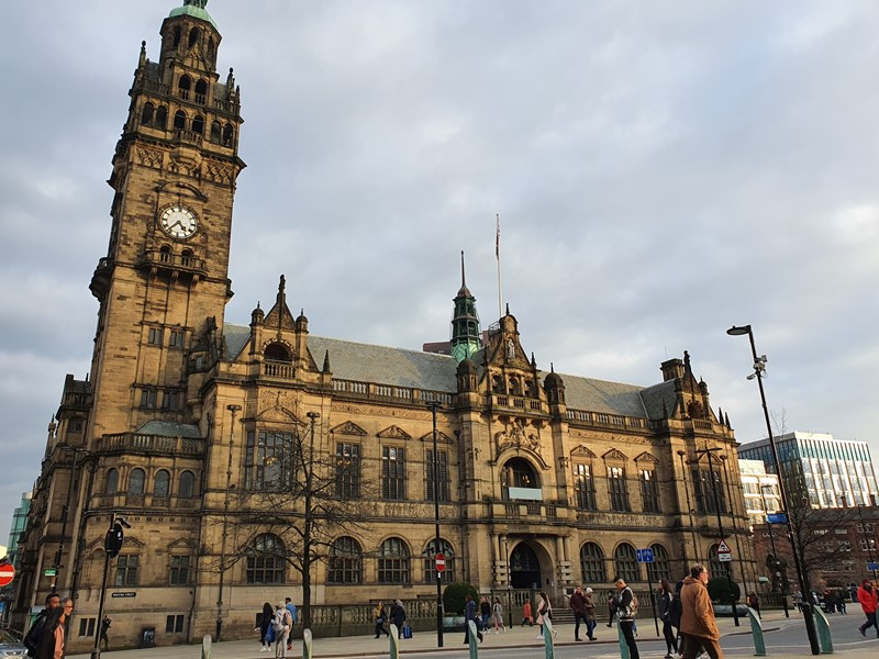 Front of the Sheffield Town Hall