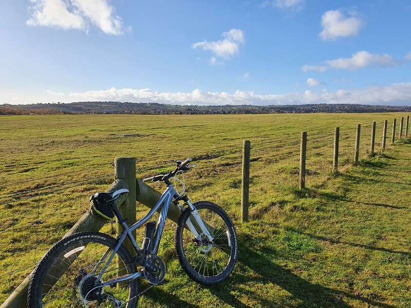 A bike at the top of Shirebrook Valley Nature Reserve in Sheffield