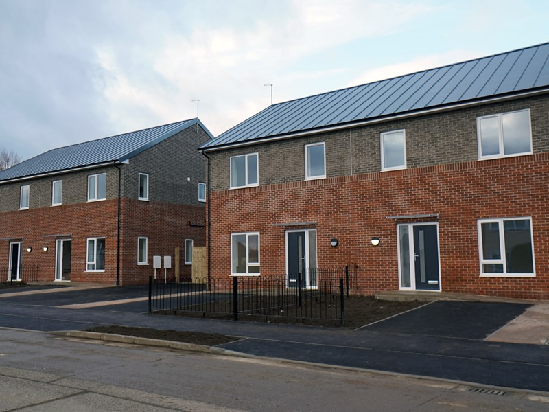 Photo of new council houses