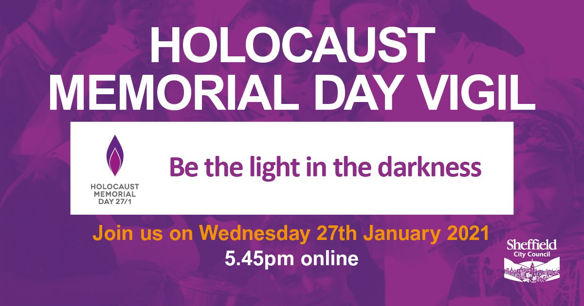 Holocaust Memorial Day Vigil poster