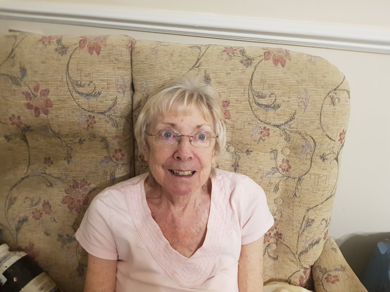 Mary Burrow - care home resident