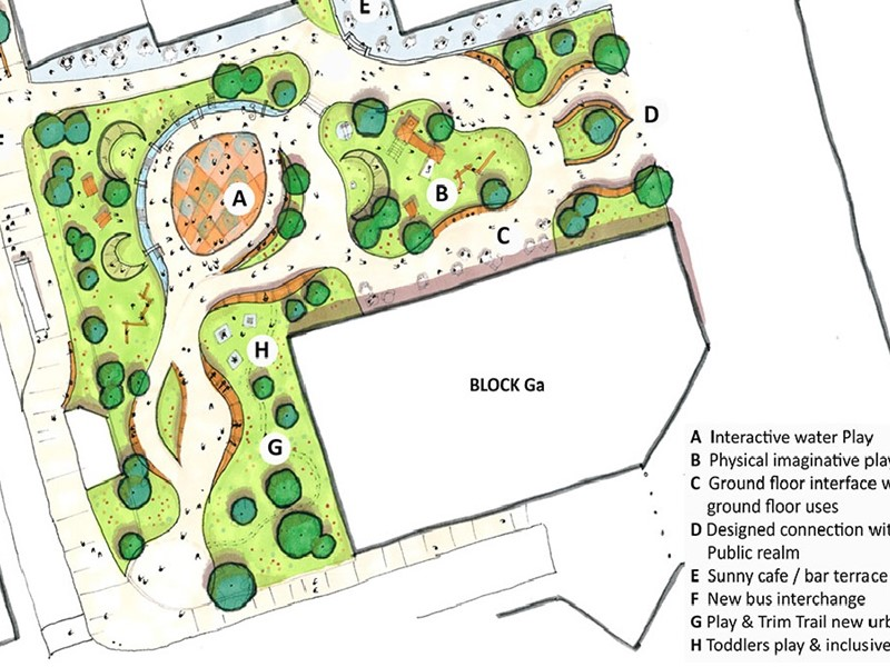 Sketch of the plans for the park