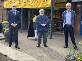 Cllr Iqbal(left), Cllr Bainbridge (middle) and Cllr Hurst (Right) in Chapeltown - Copy