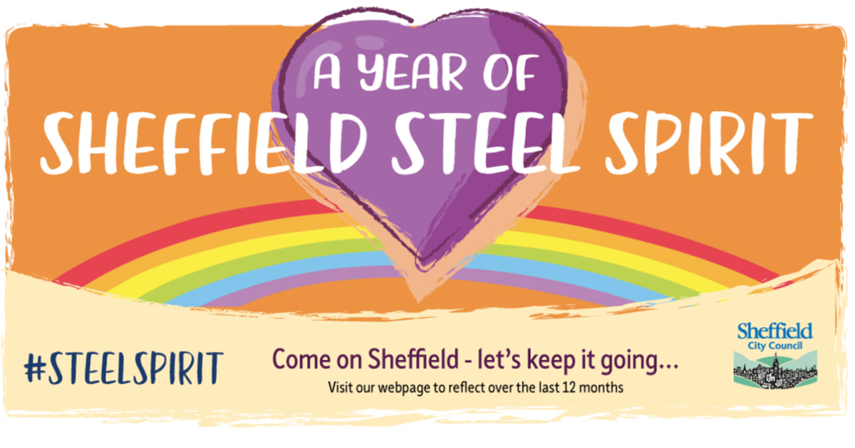 A year of Sheffield Steel Spirit graphic with purple heart