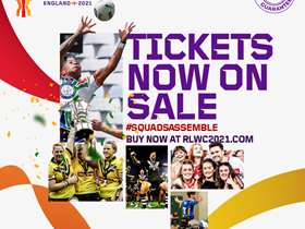 Rugby League World Cup tickets on sale design