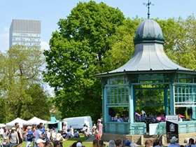Weston Park bandstand during a previous event