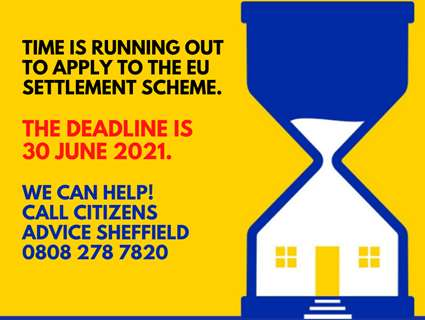 Egg timer with a house in it with 30 June deadline for EUSS