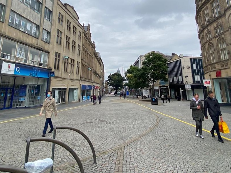 Sheffield city centre street
