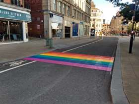 Rainbow crossing installed in city centre for Sheffield Pride