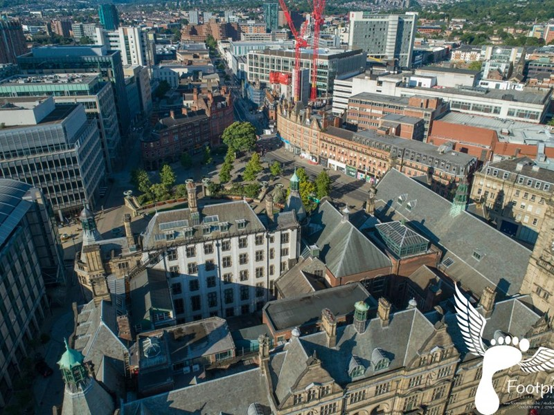 Sheffield Town Hall from above, image credit Footprint photography