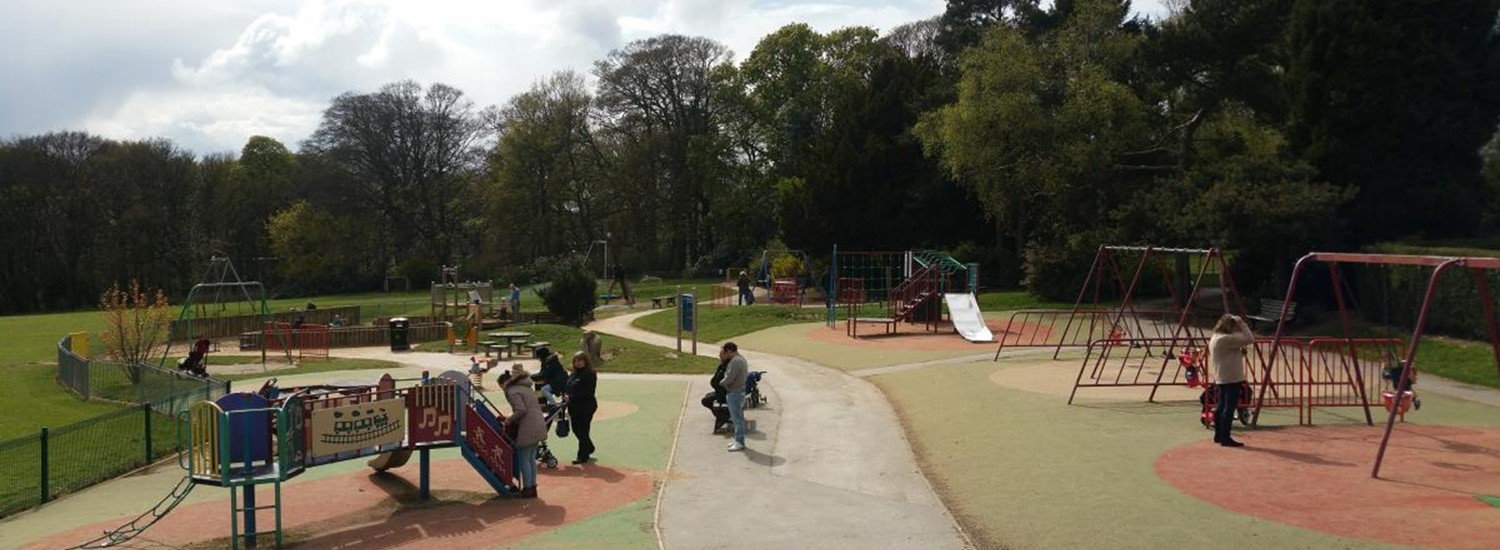 Playground in a Sheffield park