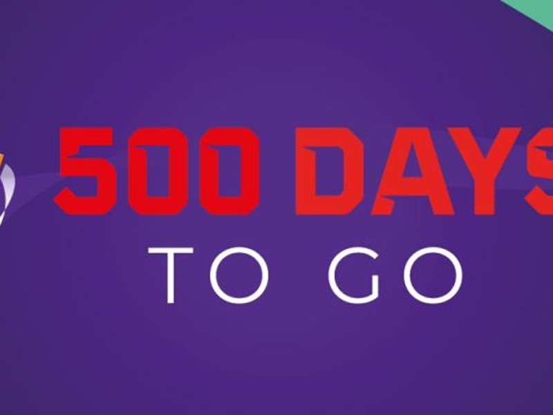 500 days to go banner