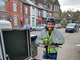 Local businesses receive E-Bikes for deliveries