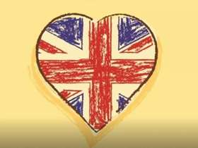 Union Jack inside a heart