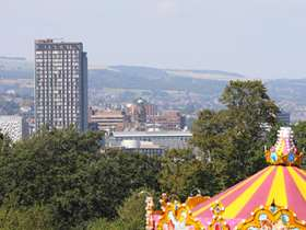 Carousel stripy top visible at Norfolk Park