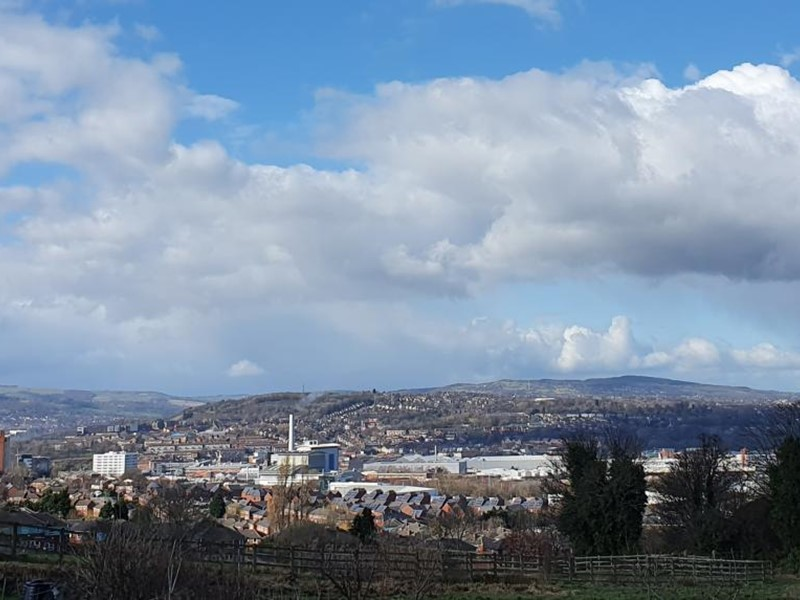 Sheffield skyline in the day