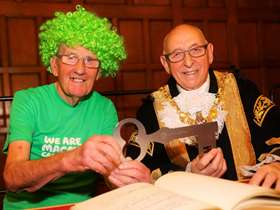 lord mayor and john burkhill