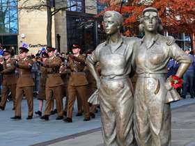 Women of steel statue