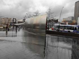 Sheffield train station forecourt