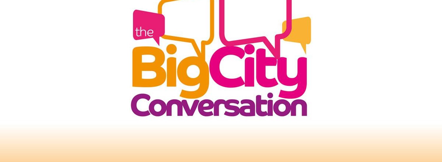 Big city conversation poster