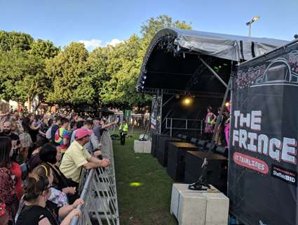 Stage and crowd at Fringe at Tramlines