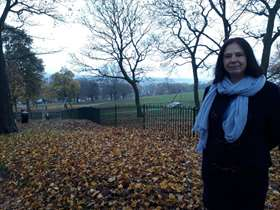 Cllr Mary Lea at High Hazels Park