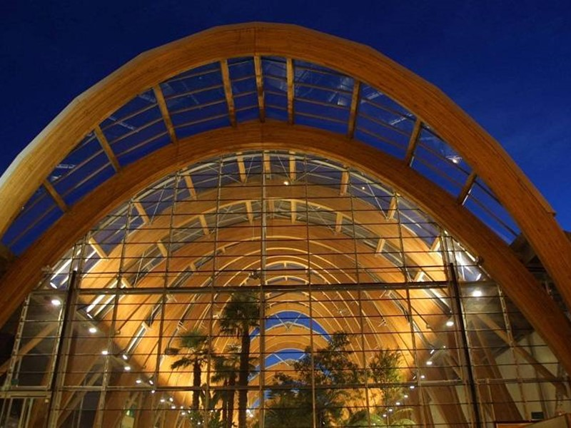 Winter Garden arches at night